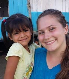 DTS student ministering in Peru