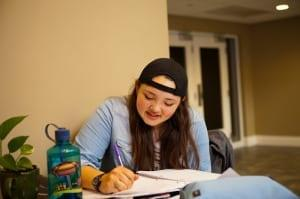 DTS student studying for scripture memory verse