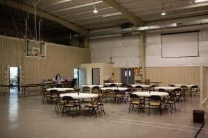 Facilities tour - dining area