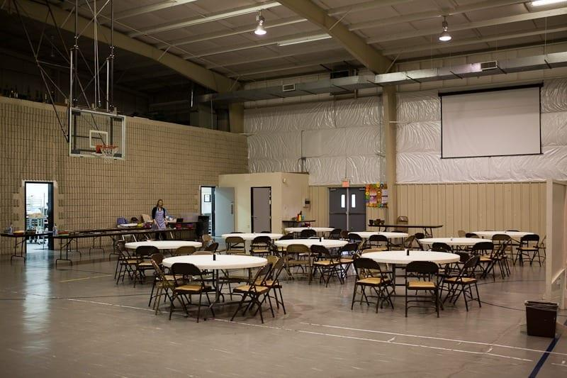 Facilities tour - dining area